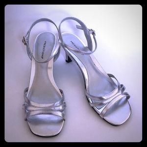 Predictions Size 7.5 Strappy Silver Heel